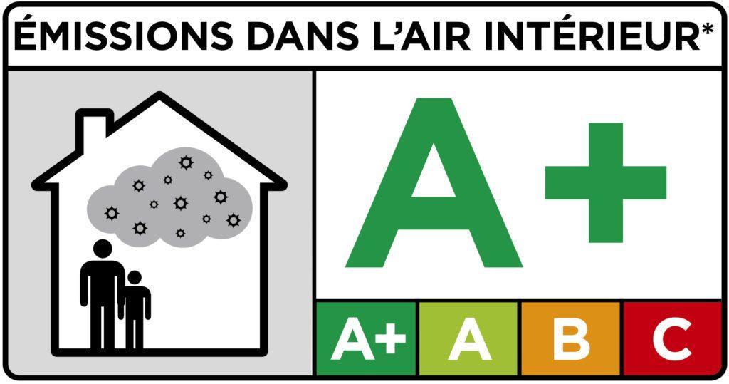 Étiquette émissions dans l'air intérieur