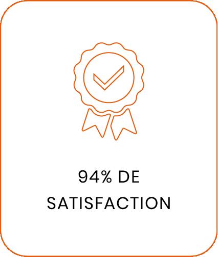 94% de satisfaction