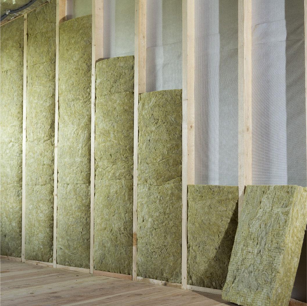 Un mur sur lequel on place un isolant pour protéger votre maison
