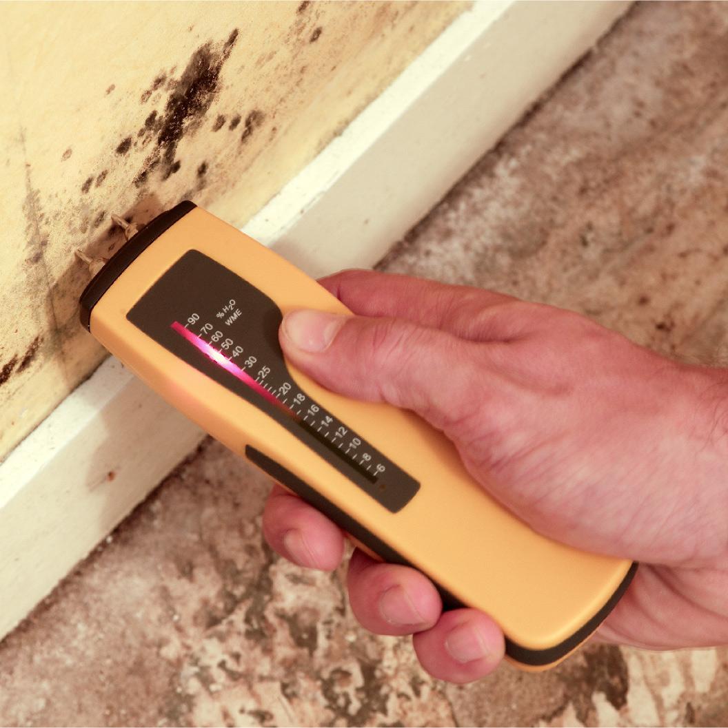 Évaluation du taux d'humidité de l'air intérieur et ds murs